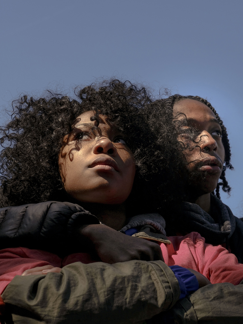 3/24/18,  Washington, D.C.  © Gabriella Demczuk / TIME Jada Wright, 17, and Carl Payne, 18, from Eastern Senior High School in DC at the March for Our Lives Rally in Washington, D.C. on March 24, 2018.