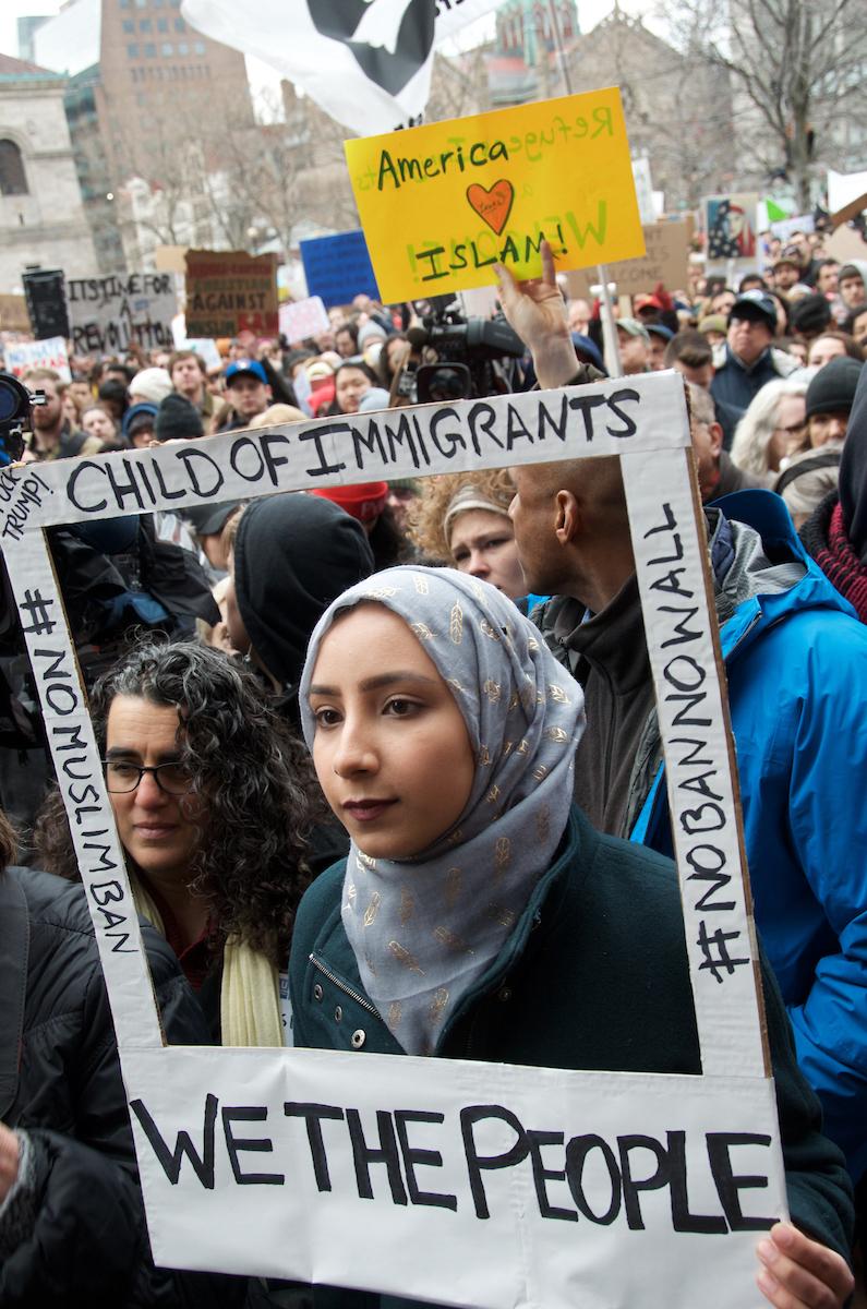 #No Muslim Ban, #No Ban No Wall