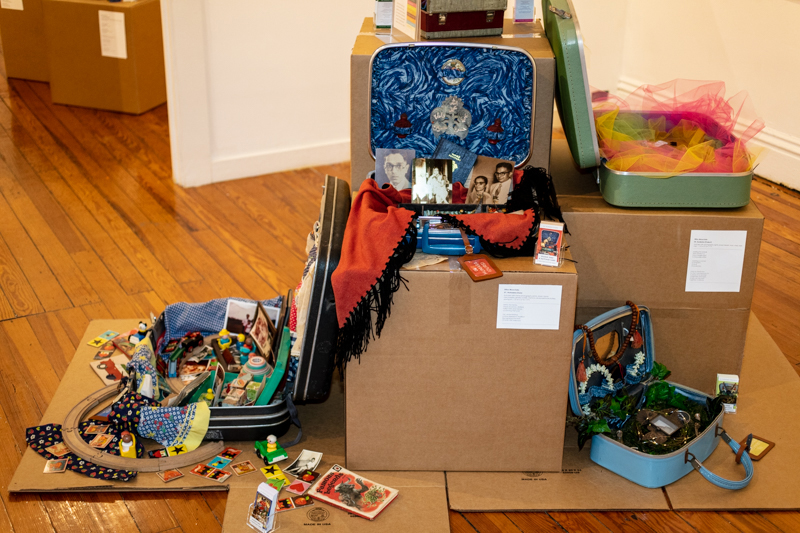 Installation View: The Suitcase Series