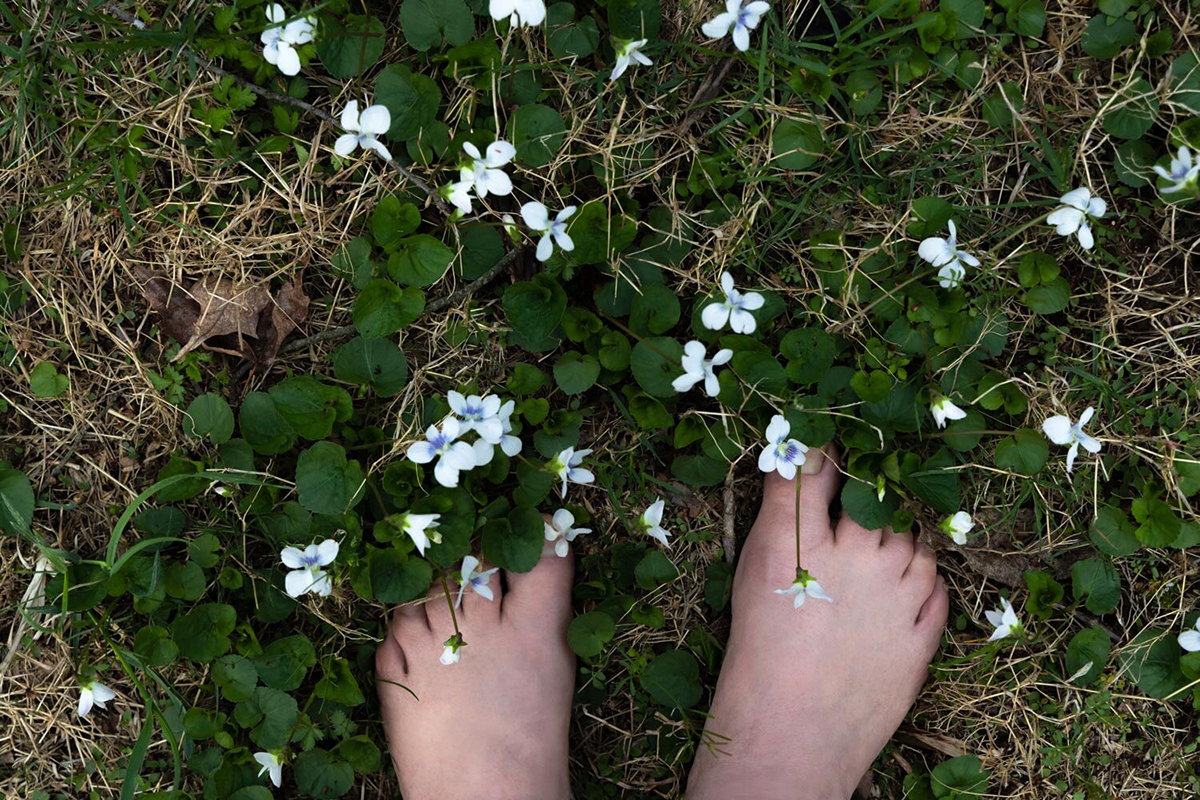 Barefoot Afternoon from the series Myth, Memory & Violets by Marcy Juran